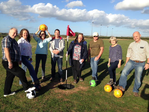 Footgolf On The Exe Banner Exeter Course Devon Footgolf