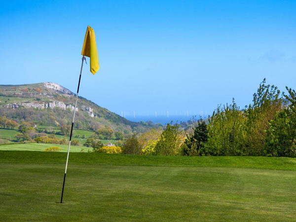 Silver Birch Footgolf Course Welsh Footgolf Golf Course in Betws yn Rhos Conwy North Wales.