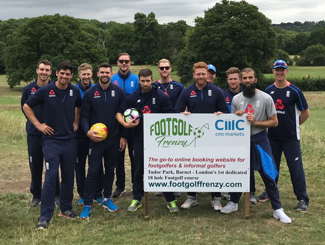 England Cricket Team Footgolf Joe Root Alastair Cook