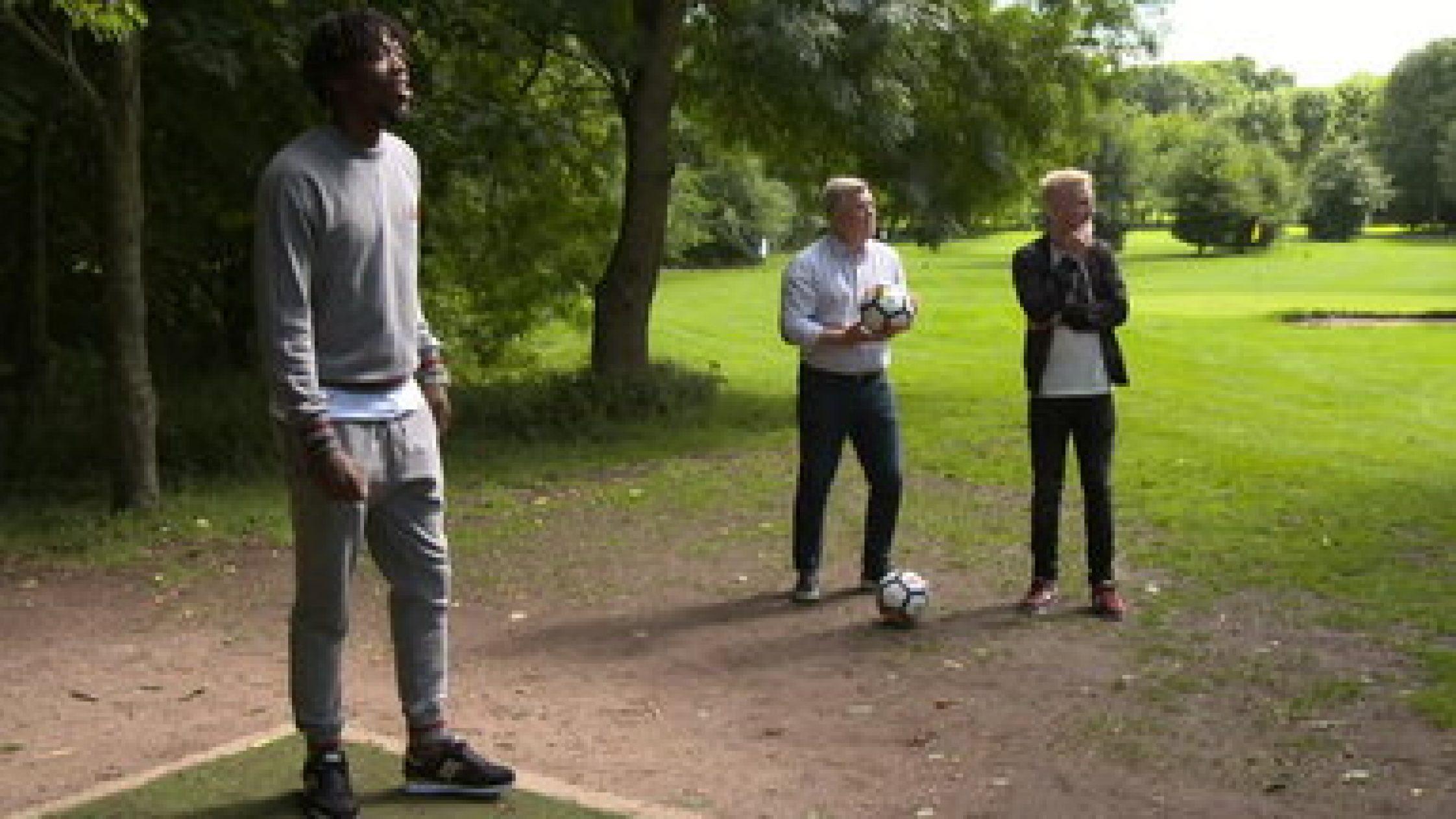 Watford FC Will Hughes and Nathaniel Chalobah Play Footgolf