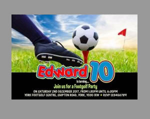 Footgolf Party Invitation